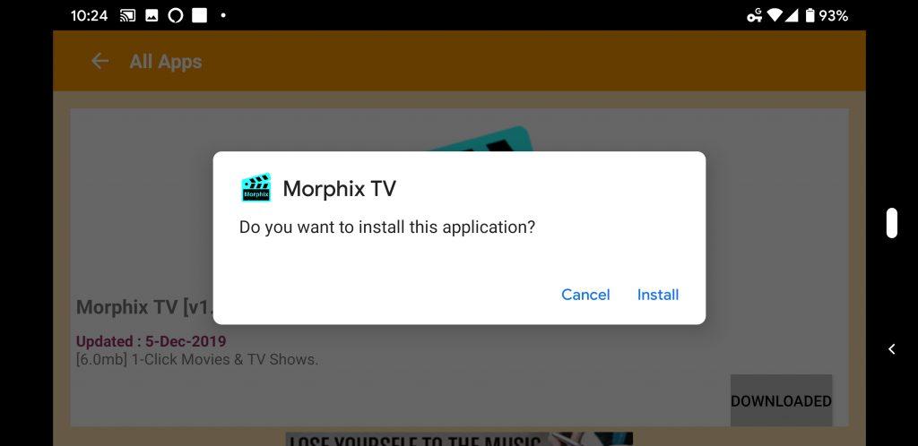 Morphix TV install on Firestick