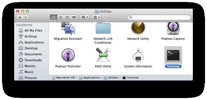 Terminal Mac Apple OS
