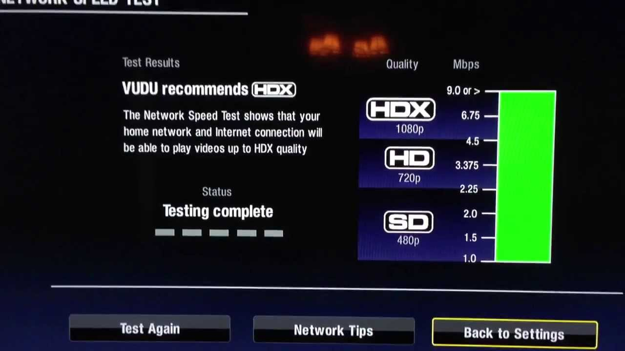 Roku Speed Test Vudu