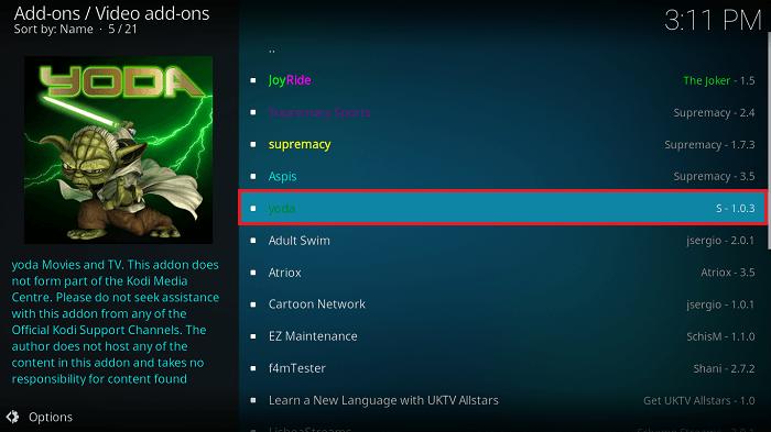 Kodi Firestick Yoda Repository