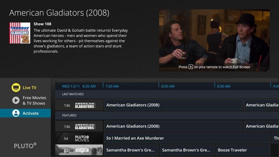 Pluto TV Activate 1