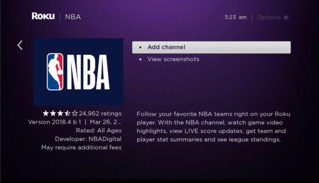 NBA TV Roku how to watch the 2020 nba finals