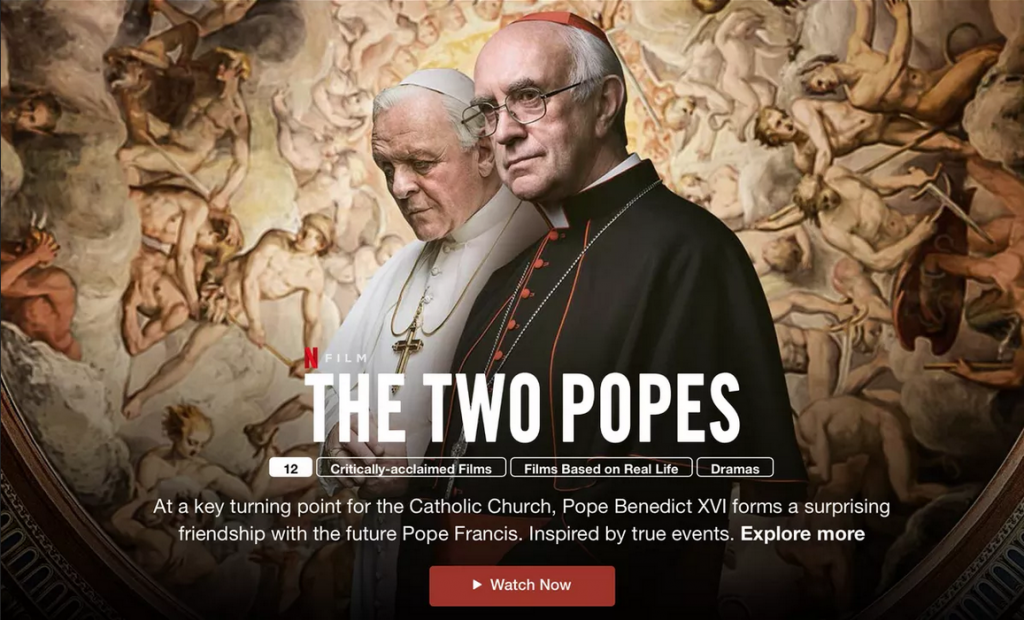The two popes Netflix free