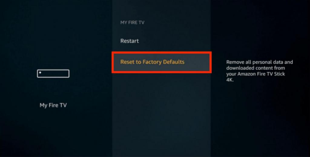 reset firestick to factory settings menu