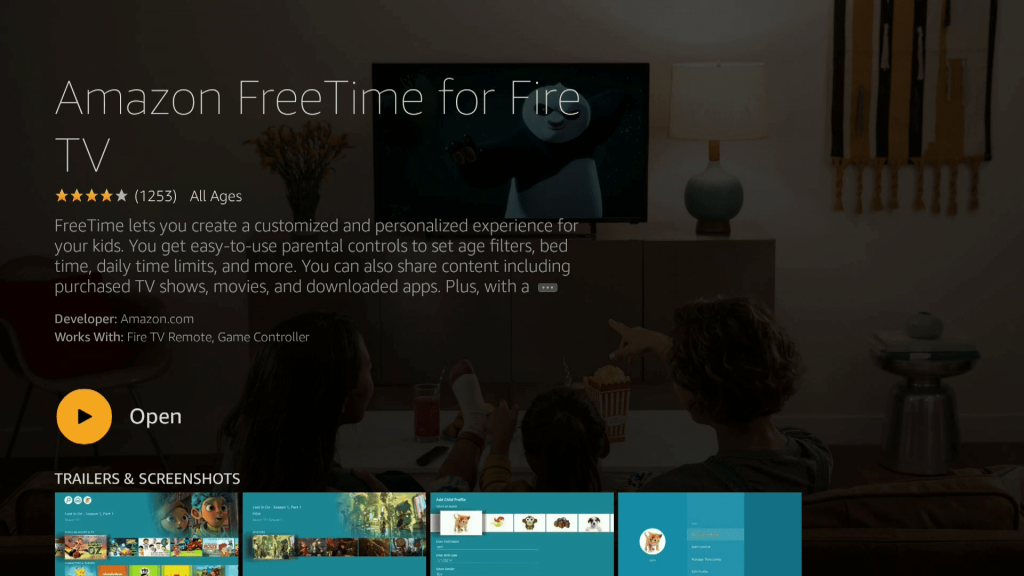 Amazon FreeTime Firestick Fire TV