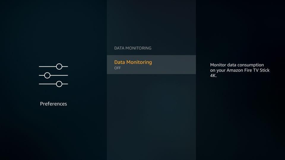 Data monitoring Firestick