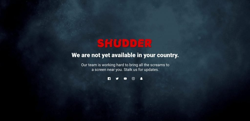 Watch Shudder TV outside US