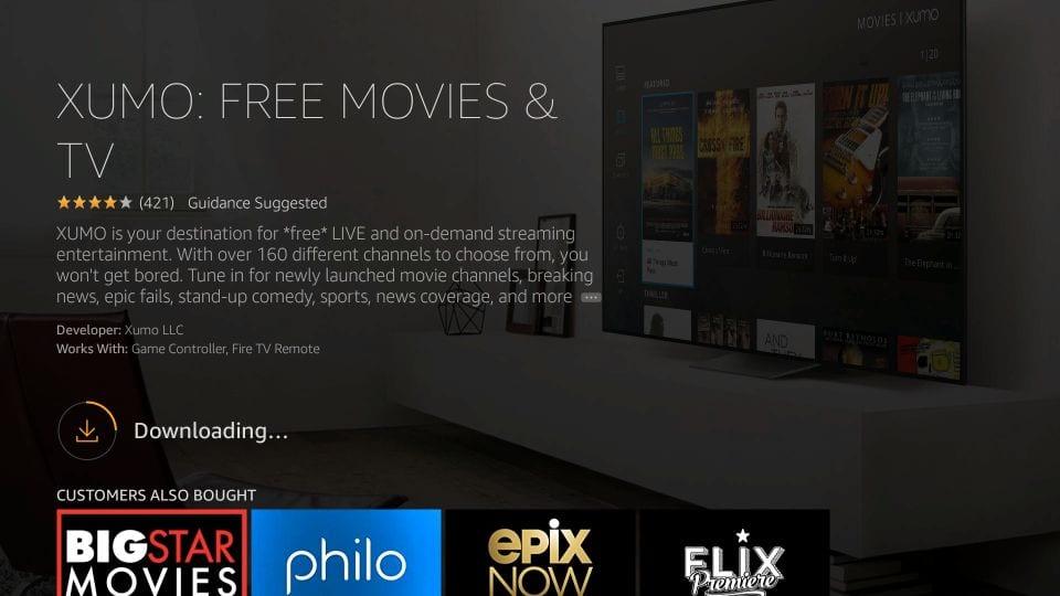 Download Xumo TV on Firestick