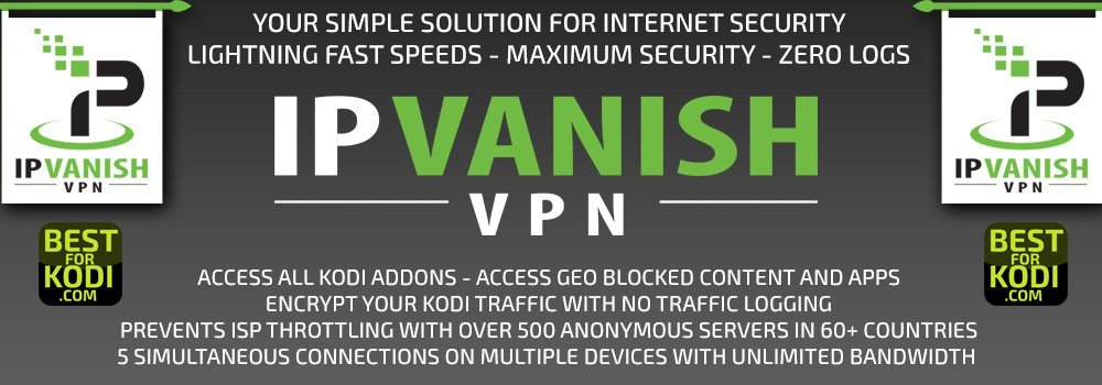 IPVanish Best VPN For Kodi