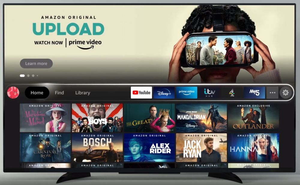 Fire TV new UI main menu