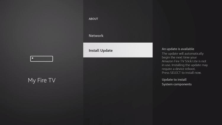 New Install Update